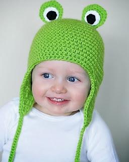 mũ len mắt ếch cho bé trai