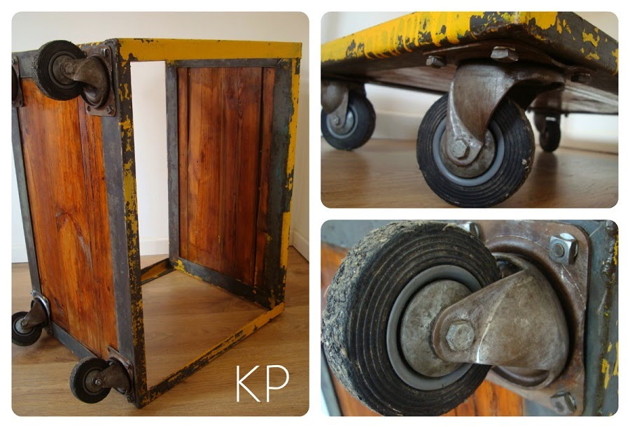 Kp tienda vintage online carro industrial como camarera for Mueble de pared industrial