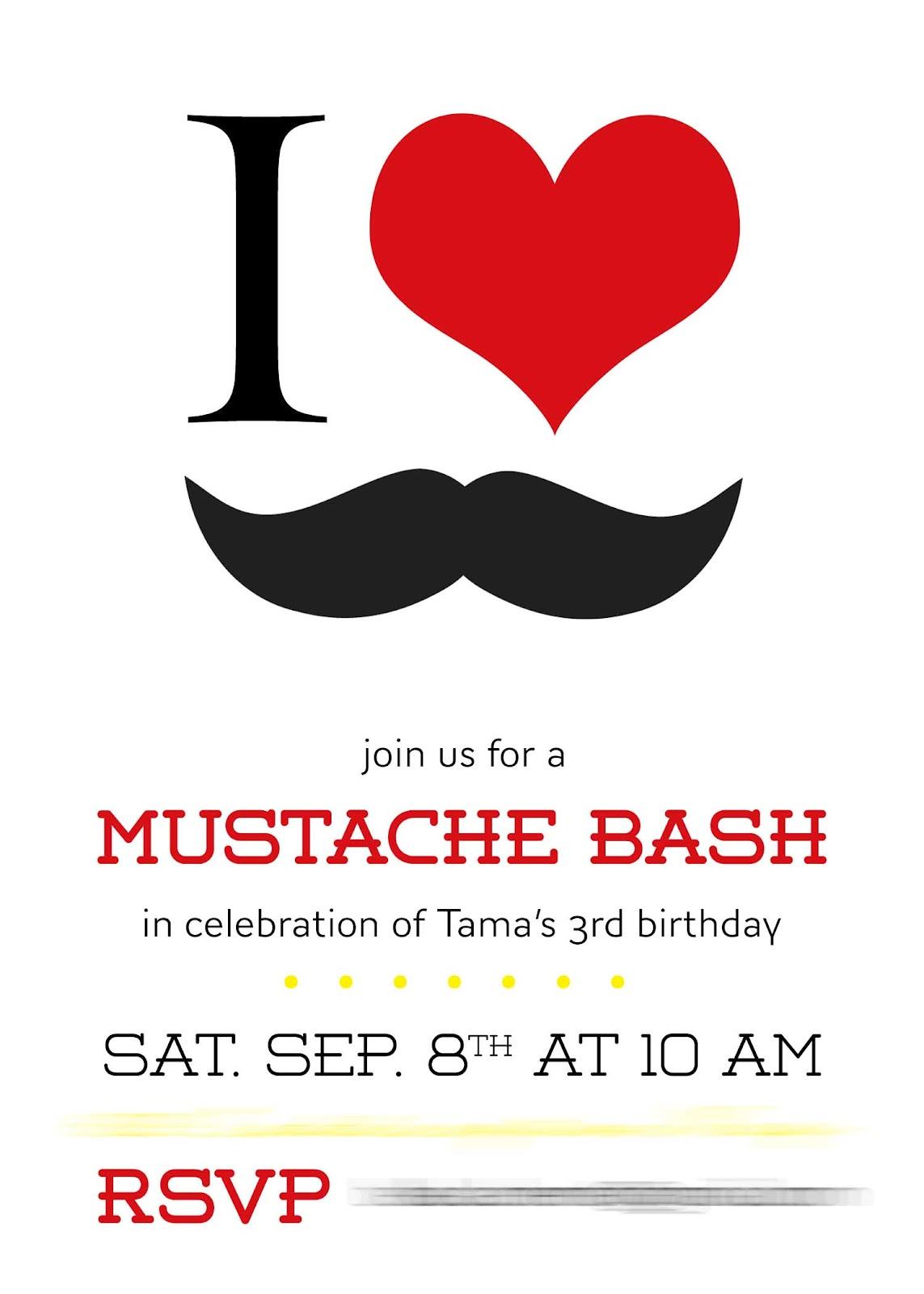 Paixão Designs: Mustache Bash