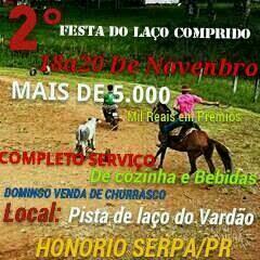 Honorio Serpa:Vem aí a 2ª Festa do Laço Comprido