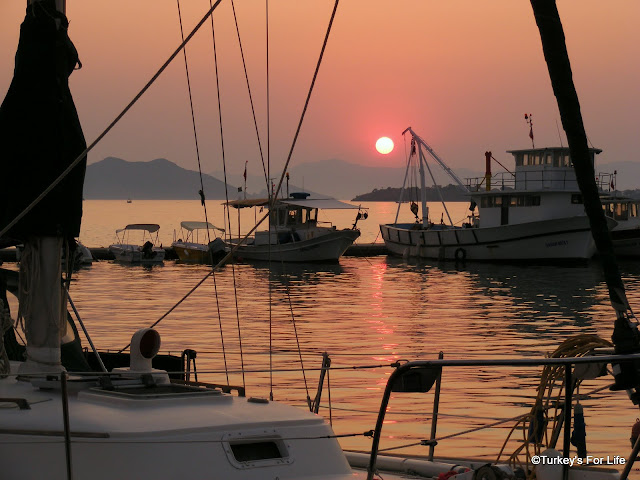 Sunset on Fethiye Harbour