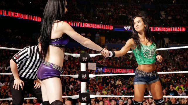 WWE Divas Frienemies Paige AJ Lee