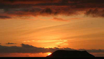 Sunset over North Seymour Island
