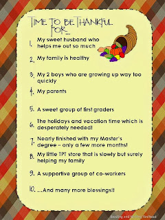 http://readingandwritingredhead.blogspot.com/2013/11/time-to-be-thankful-linky-party.html
