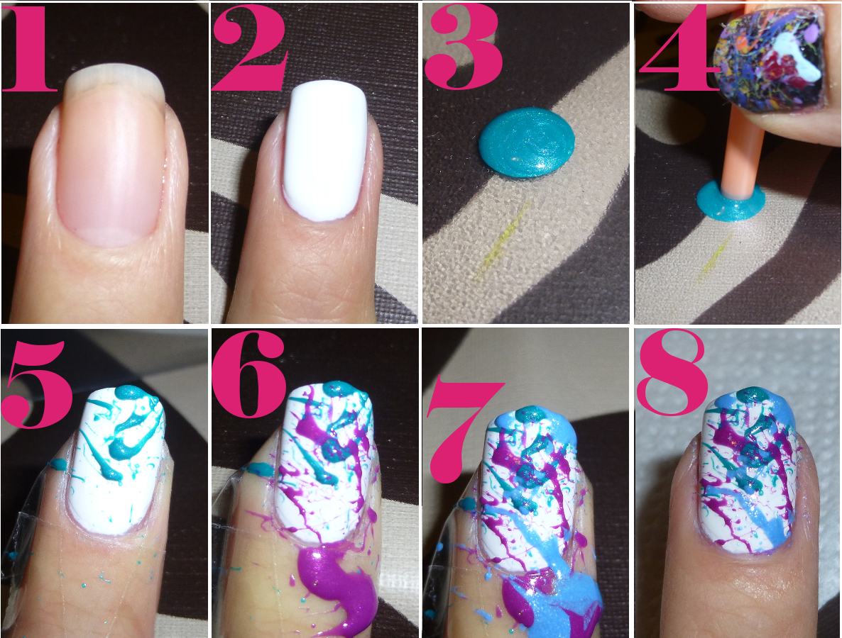 Splatter Nails Tutorial - She Loves Polishes