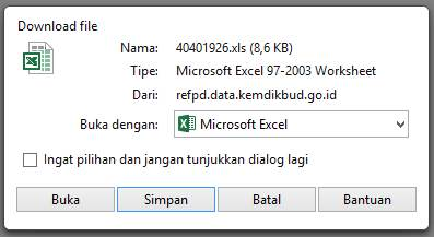 Download Seluruh NISN Ke File Microsoft Excel