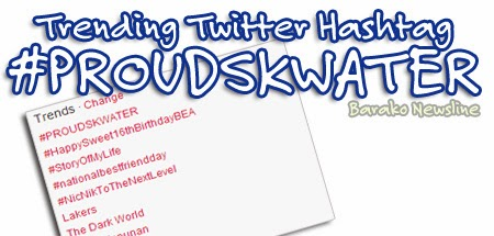 Trending Twitter Hashtag PROUDSKWATER