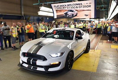 The All-New Shelby GT350R Rolled off the Line at the Flat Rock Assembly Plant