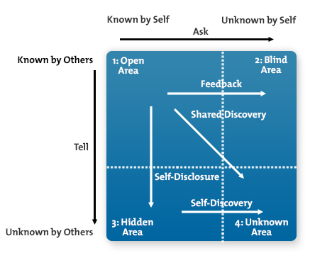 If only for inspiration ask fm part 2 the johari for Window quadrant