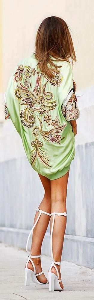 Fluoro Green Color Emilio Pucci Bomber Dress