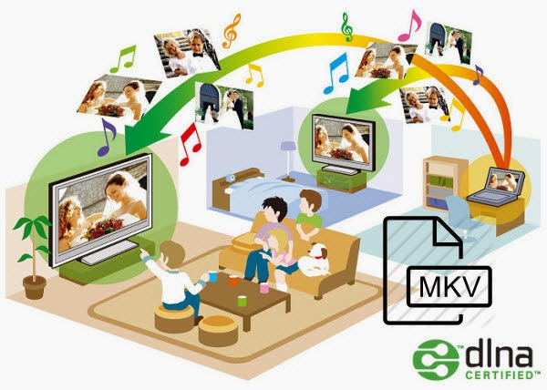 Convert MKV for streaming over DLNA