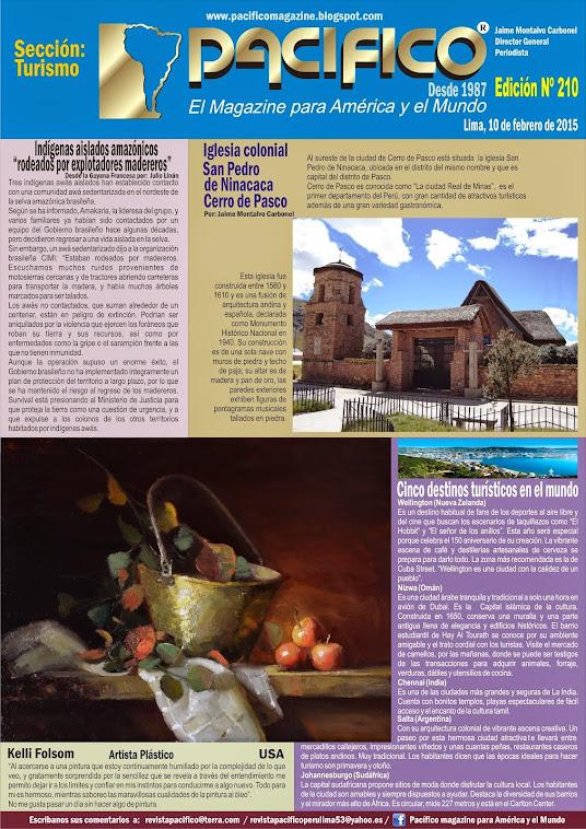 Revista Pacífico Nº 210 Turismo