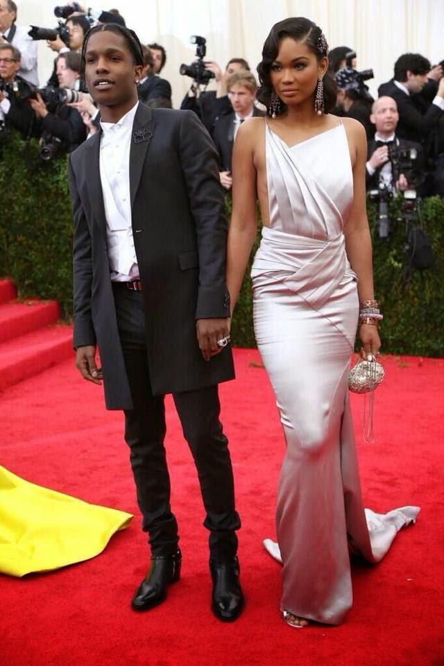 Red Carpet Met Gala 2014 asap rocky chanel iman