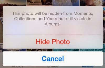 iOS Hide Photo iphone