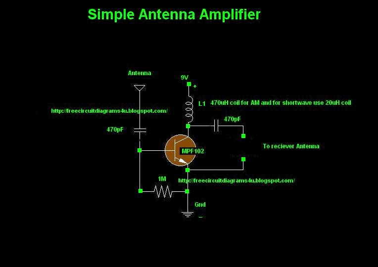 Antenna Amplifier Wiring Diagram Schematic