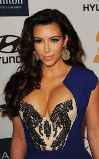 Kim Kardashian Dress, pre-Grammy Awards, Kim Kardashian Sleeved Wrap Dress