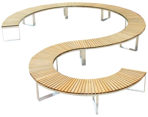 Fresh Decor The Curve And Leaf Outdoor Benches From Deesawat