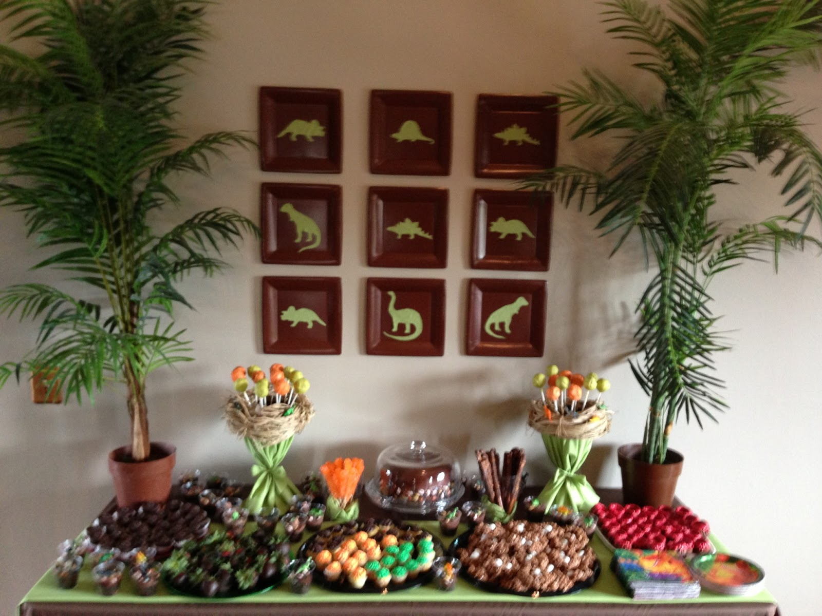 Cheerful Thrifty Door Dinosaur Dessert Table
