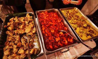 Ayam Percik, Sambal Udang, Daging Salai Masak Lemak