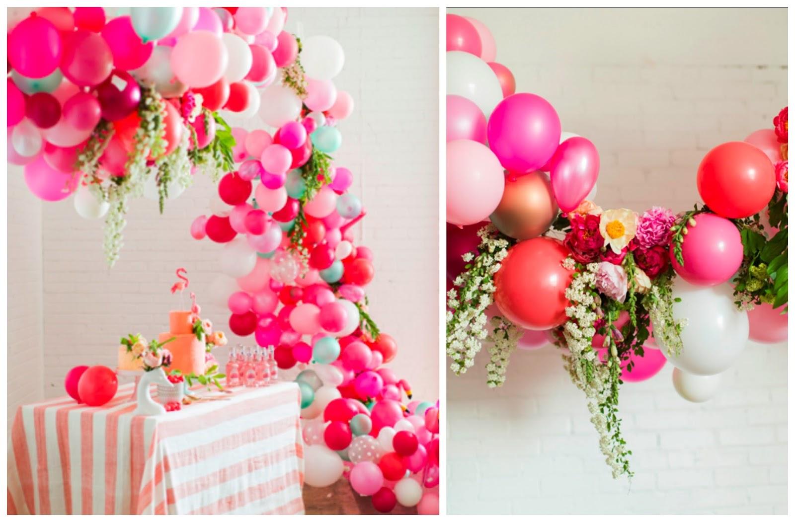 Decoraci n con globos y flores naturales imagui for Adornos metalicos para jardin