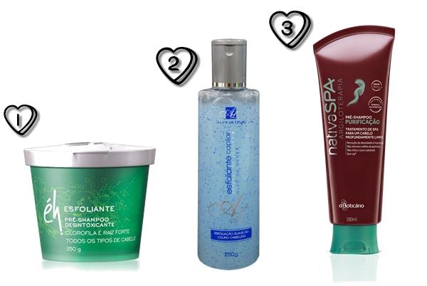 Esfoliante Pré-Shampoo éh - Esfoliante Capilar Alpha Line - Pré-Shampoo purificante O Boticário.