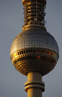TV tower Berlin at sunset