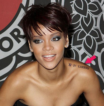 Rihannas Tattoos