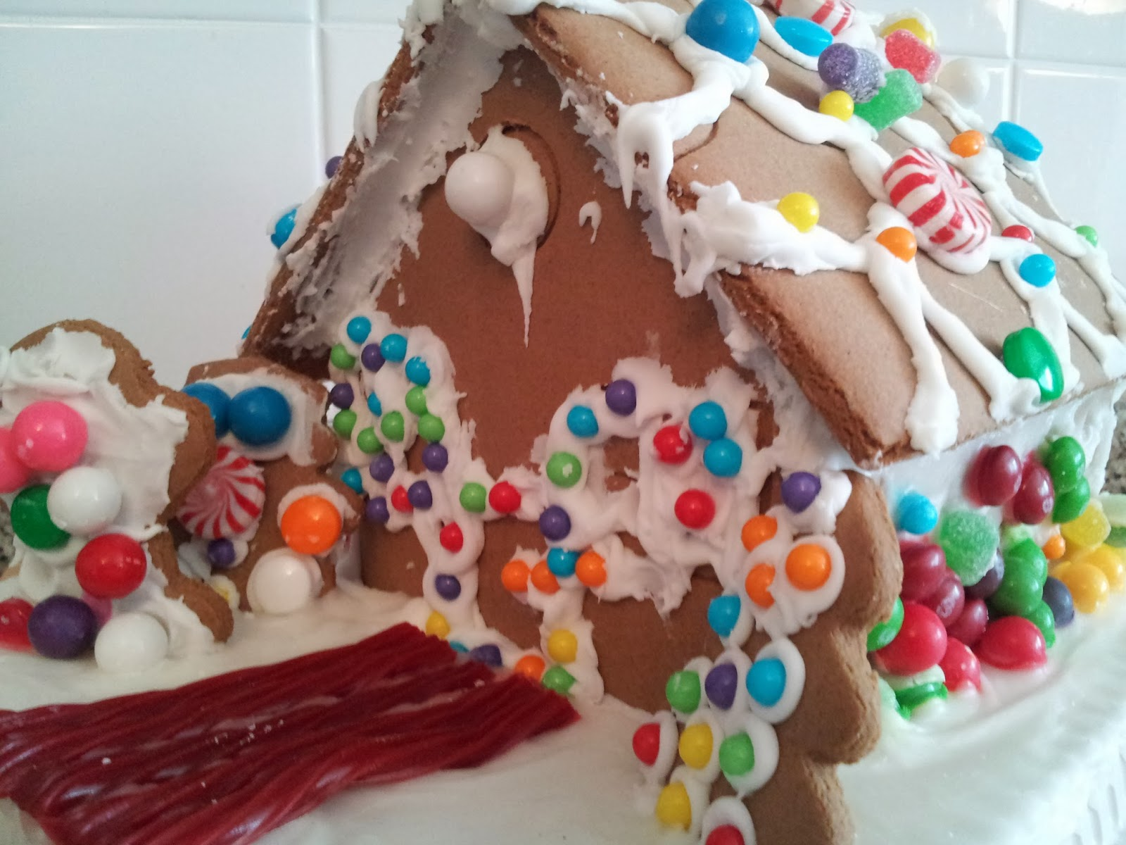 gingerbread house, Christmas, baking, candy