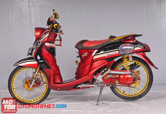 Modifikasi Motor Yamaha Fino Ring 17