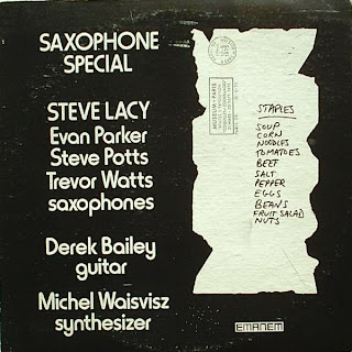 Steve Lacy, Saxophone Special