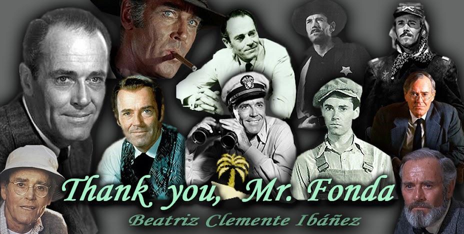 Thank you, Mr. Fonda