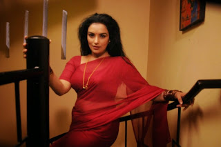 Swetha Menon looks Super Cute beautiful in Saree from movie Malle Teega Movie