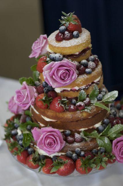 Rustic Victoria Sponge Wedding Cake