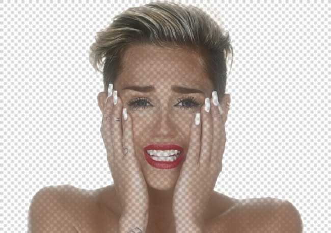 miley cyrus crying wrecking ball