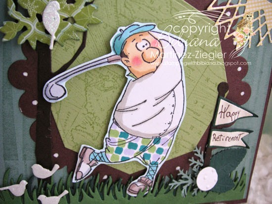 Art Impression golfer card detail