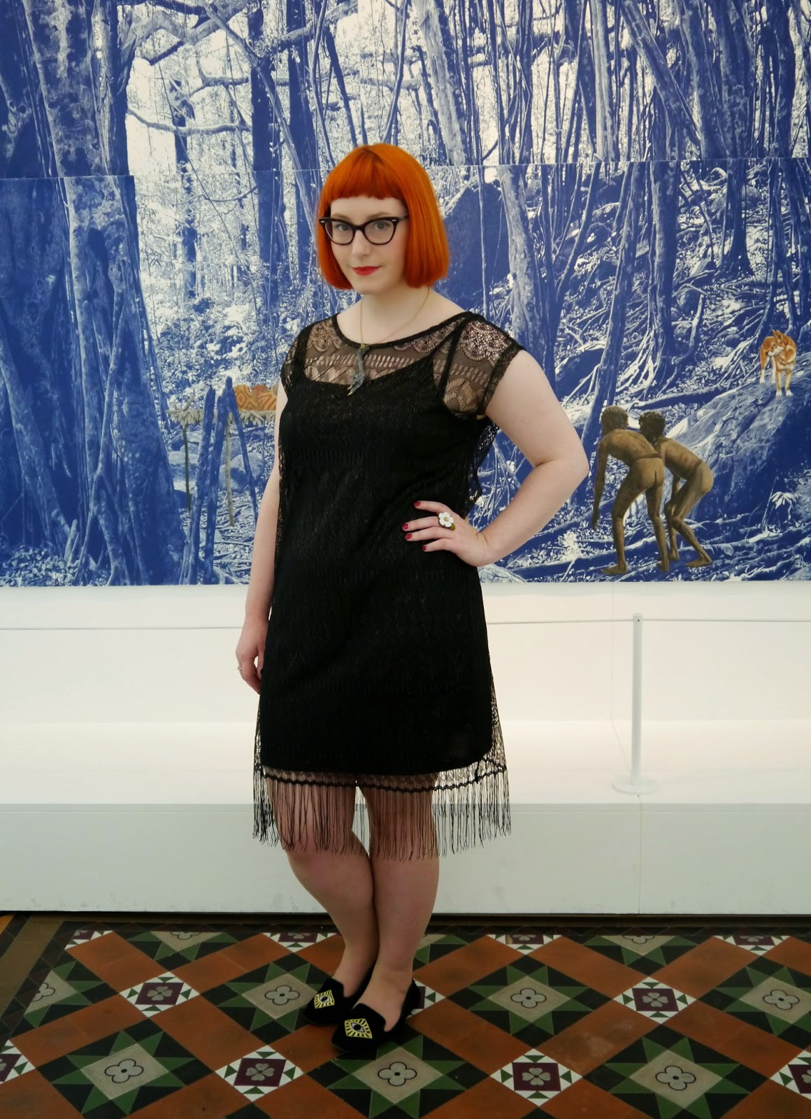 National Museum of Scotland, museum, scottish bloggers, edinburgh, edinburgh bloggers, Danie Mellor, outfit, Runaway fox, taxidermy jewellery, claw necklace, 1920s style, Styled by Helen, ginger hair, red head, The Edinburgh Casting Studio, animal friendly taxidermy