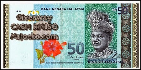Giveaway Cash RM150 MrJocko