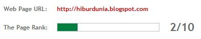 page rank hiburdunia