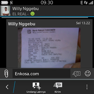 enkosa sport dan testimoni dari pelanggan setia toko online baju bola sepakbola Bukti transfer pembayaran jersey Willy Nggebu di enkosa spo