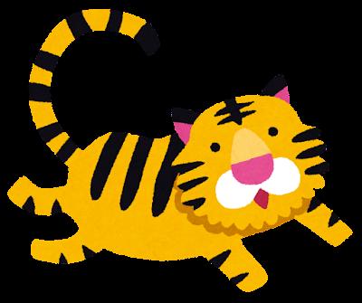 かわいい虎のイラスト(寅年)