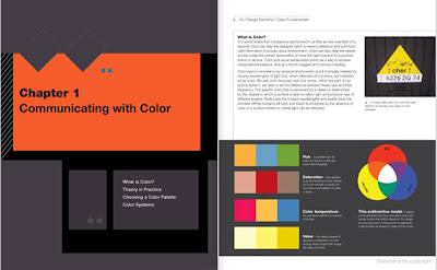 Páginas del libro Elementos del diseño. Fundamentos del color.