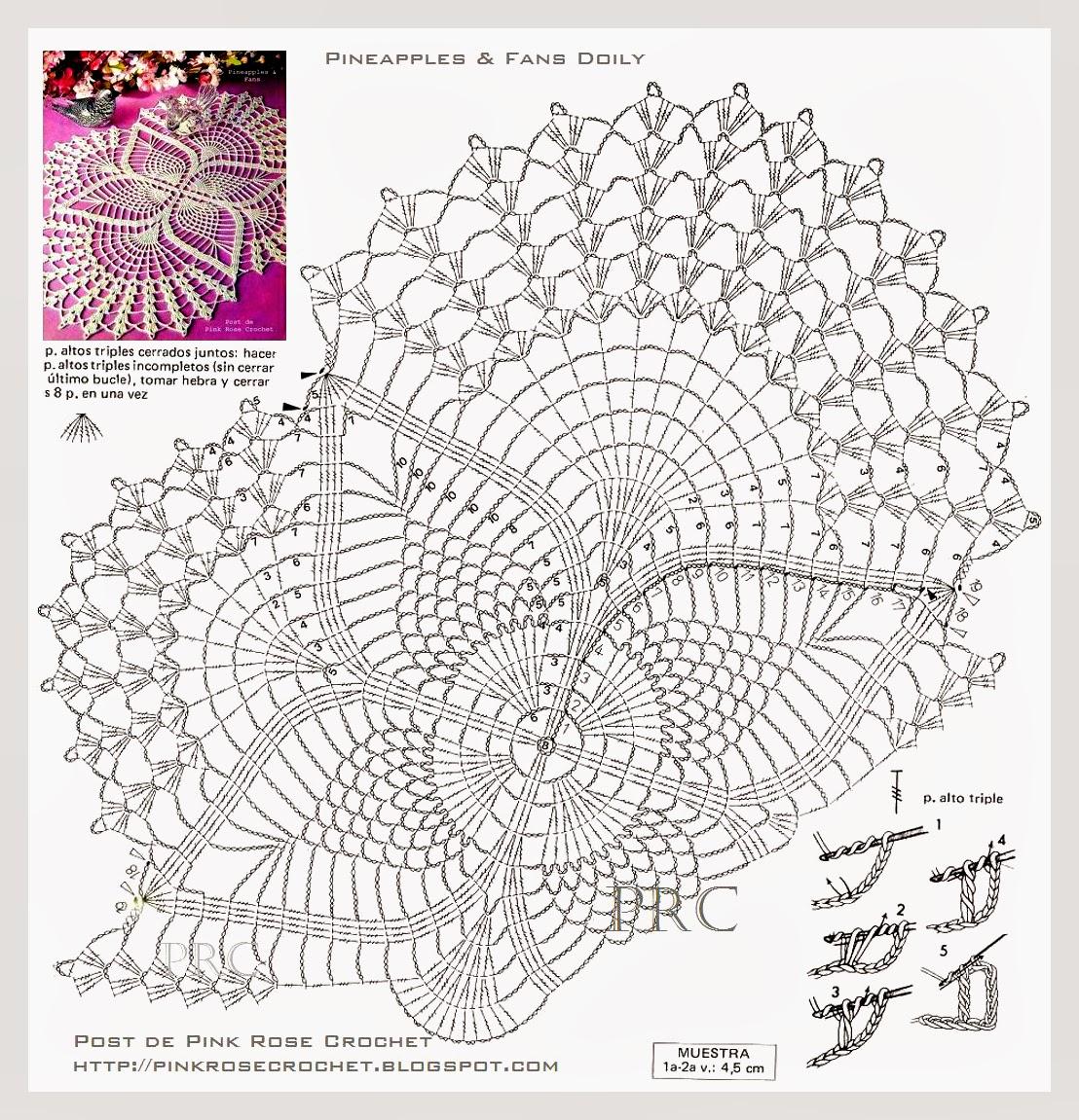 Копилка схем для вязания салфеток и других ажурных узоров крючком