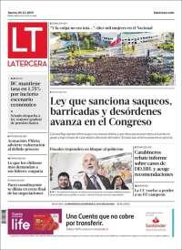 05/12/2019 PRIMERA PÁGINA DE LA TERCERA DE CHILE
