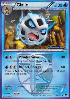 Glalie Plasma Blast Pokemon Card