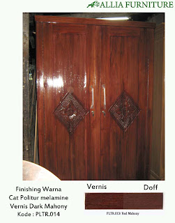 Contoh Furniture Politure Dark Mahony