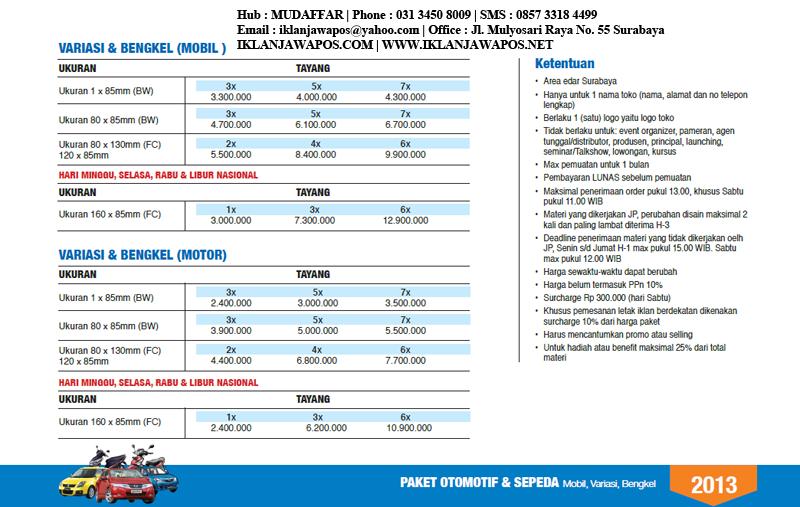 Jawa Pos Paket Otomotif 2013