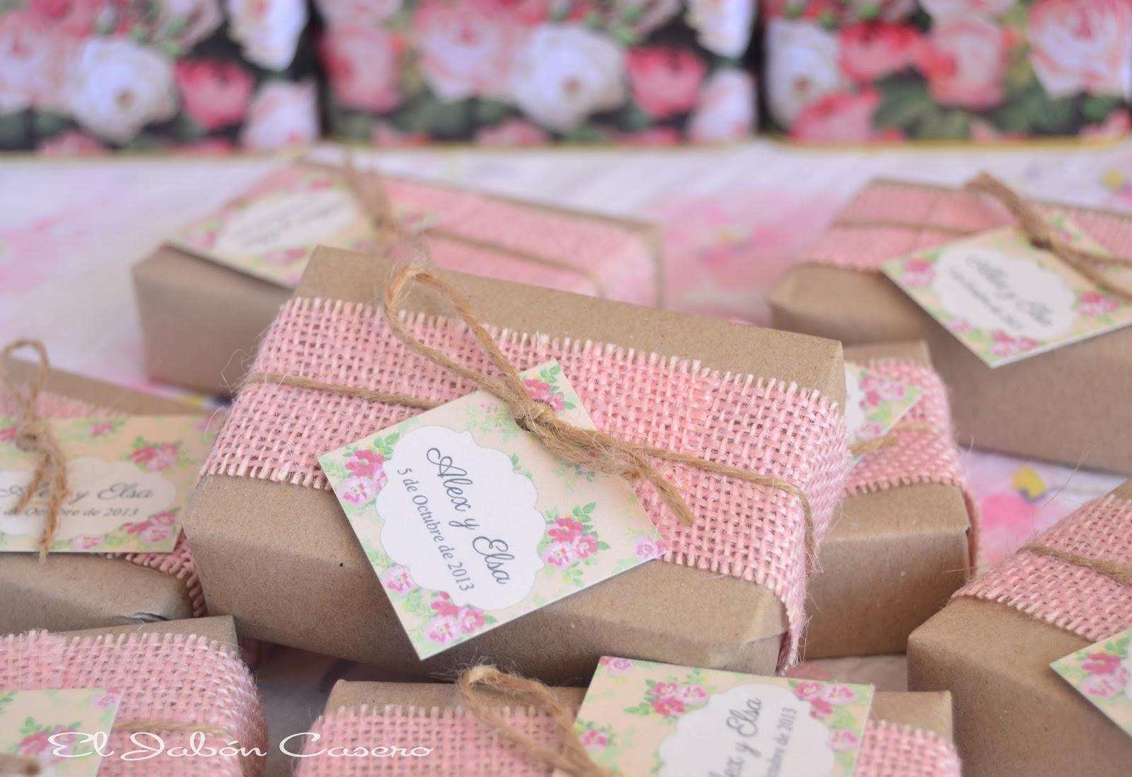 Detalles para boda ecologica jabones naturales