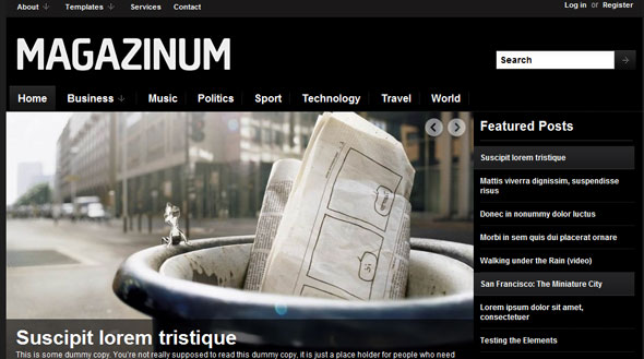 Magazinum - Magazine WordPress Theme Free Download by Wpzoom.