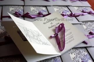 Lilac daisy wedding church program book