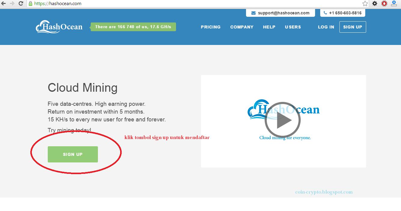 Cloud Mining Terbaru, Gratis 15 KH/s hanya dengan mendaftar